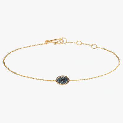 Love Diamonds 18ct Gold Diamond Evil Eye Bracelet