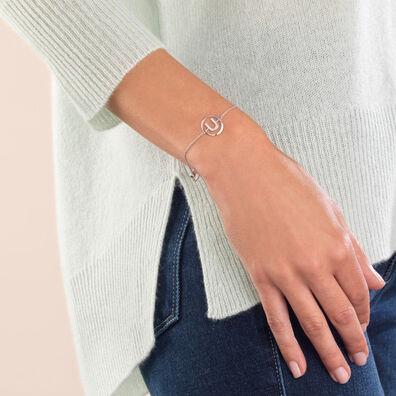 18ct White Gold Diamond Initial U Bracelet