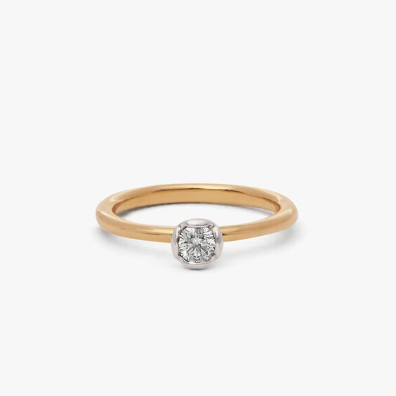 Marguerite18ct Yellow & White Gold Solitaire 0.25ct Engagement Ring | Annoushka jewelley