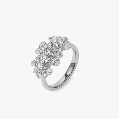 Marguerite 18ct White Gold 0.50ct Triple Diamond Ring