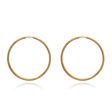 18ct Gold Medium Hoop Earrings
