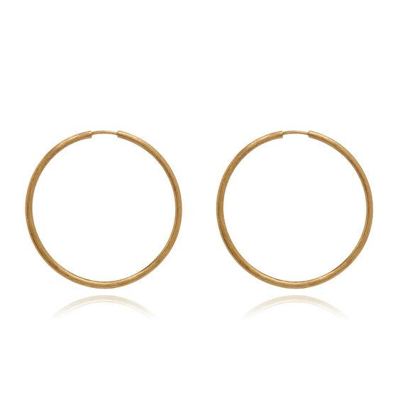 18ct Gold Medium Hoop Earrings