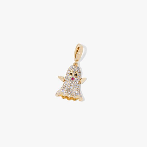 Mythology 18ct Gold Diamond Ghost Charm | Annoushka jewelley