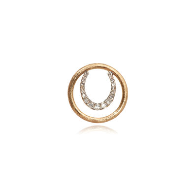 18ct Gold Diamond Horseshoe Hoopla