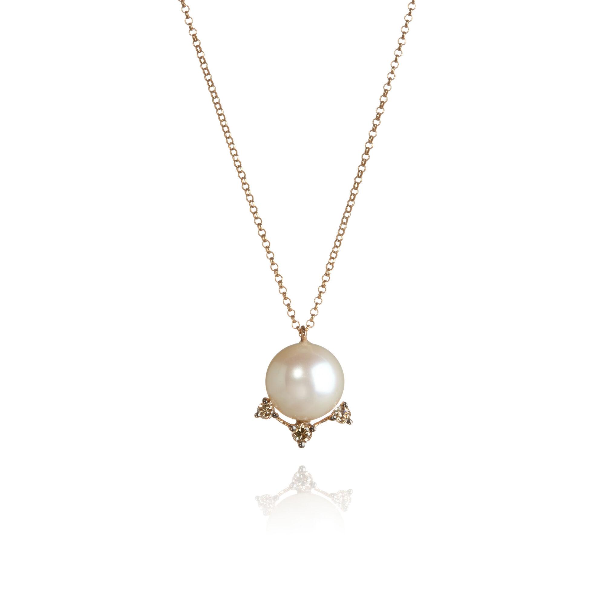 Diamonds   Pearls 18ct Rose Gold Necklace — Annoushka UK 98579ba2d