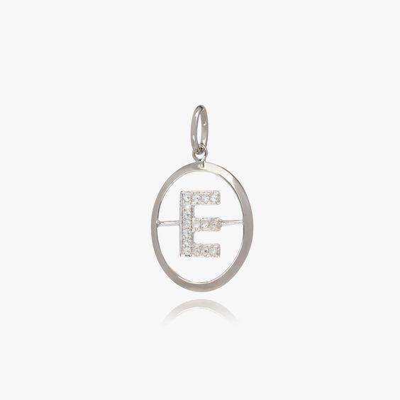18ct White Gold Initial E Pendant | Annoushka jewelley