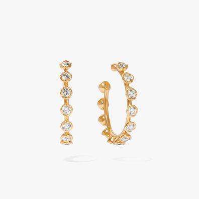 Marguerite Yellow Gold Hoop Earrings