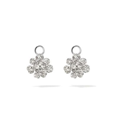 Marguerite 18ct White Gold Diamond Earring Drops