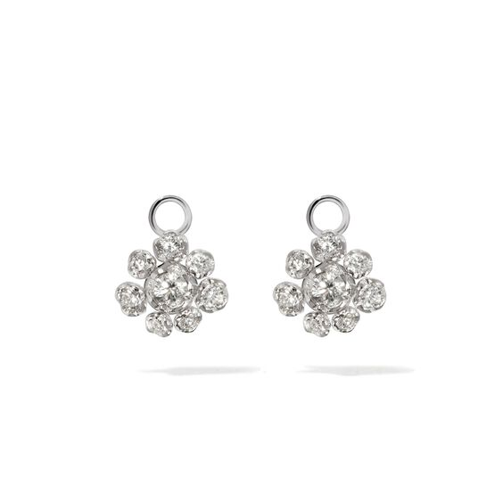 Marguerite 18ct White Gold Diamond Earring Drops | Annoushka jewelley