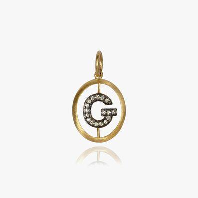 18ct Gold Diamond Initial G Pendant