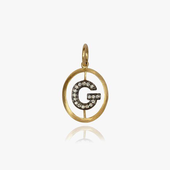 18ct Gold Diamond Initial G Pendant | Annoushka jewelley