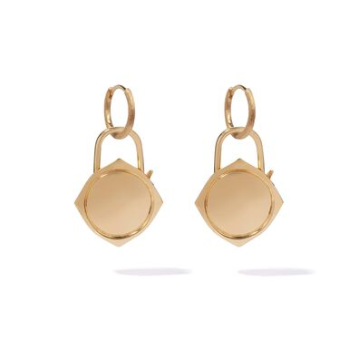 Lovelock 18ct Gold Charm Drop Earrings