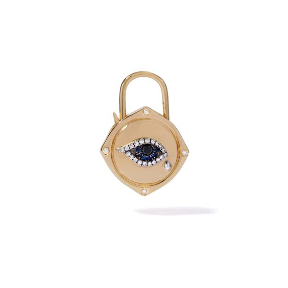 Lovelock 18ct Gold Sapphire Diamond Evil Eye Charm | Annoushka jewelley
