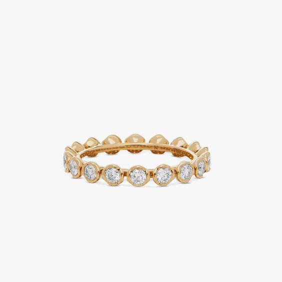 Marguerite 18ct Yellow Gold Diamond Eternity Ring | Annoushka jewelley