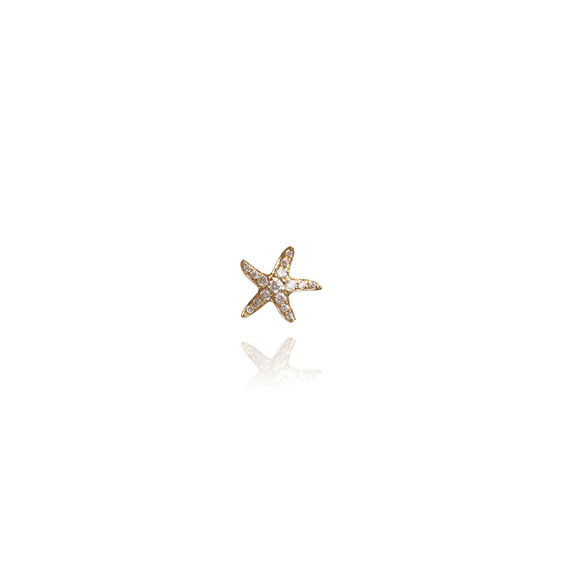 Love Diamonds 18ct Gold Diamond Starfish Single Stud | Annoushka jewelley