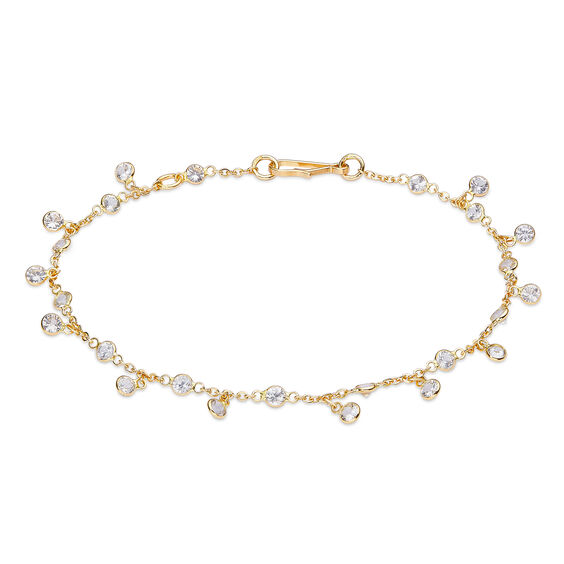 Nectar 18ct Gold White Sapphire Bracelet | Annoushka jewelley
