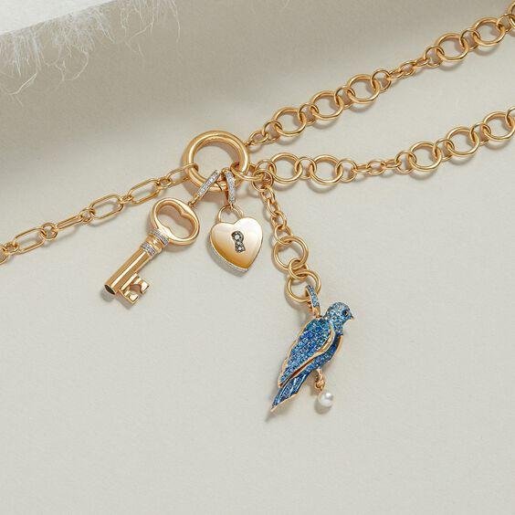 Mythology 18ct Gold Diamond Key Charm | Annoushka jewelley