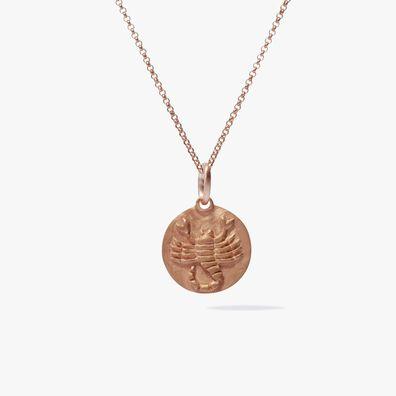 Mythology 18ct Rose Gold Scorpio Necklace