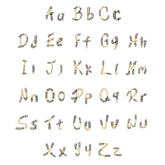 Personalised Gold Chain Letters Bracelet | Annoushka jewelley