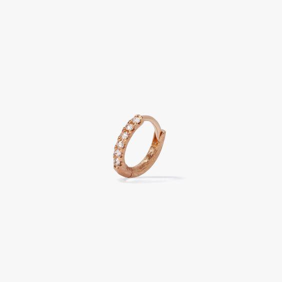 Dusty Diamonds 18ct Gold Diamond 10mm Hoop | Annoushka jewelley