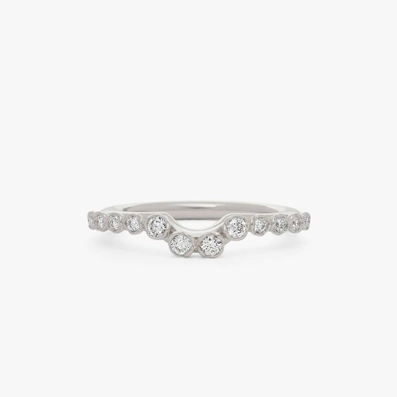 Marguerite 18ct White Gold Side Ring | Annoushka jewelley
