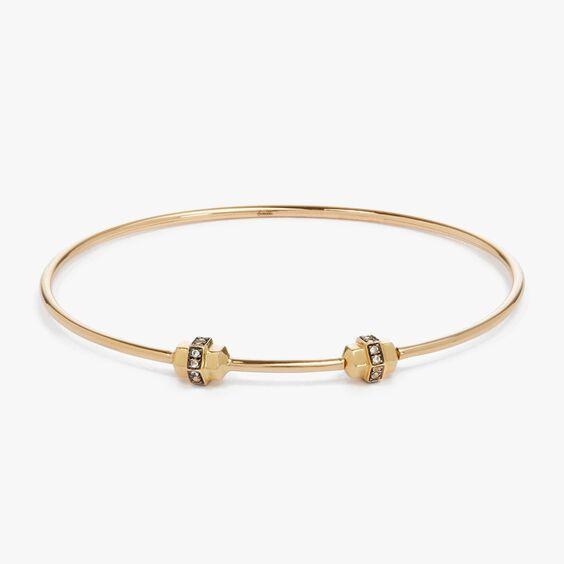 Mythology 18ct Gold & Sapphire Small/Medium Charm Bangle