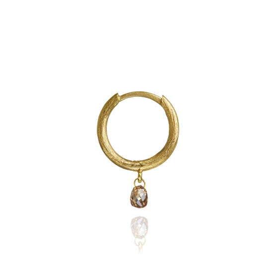 Hoopla 18ct Gold Diamond Hoop Earring