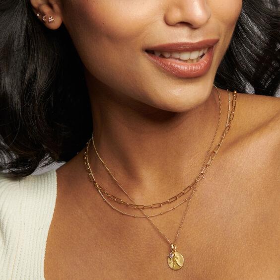 Gold Aquarius & Amethyst February Birthstone Necklace | Annoushka jewelley