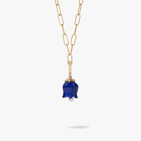 18ct Gold 18ct Gold Lapis Lazuli Tulip Necklace | Annoushka jewelley