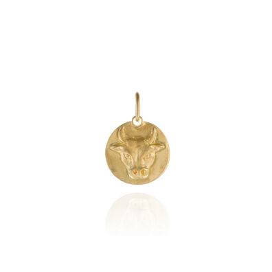 Mythology 18ct Gold Taurus Pendant