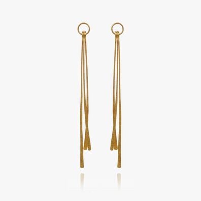 18ct Gold Pine Earring Drops