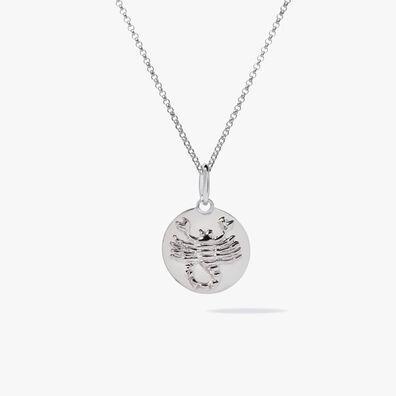 Mythology 18ct White Gold Scorpio Necklace