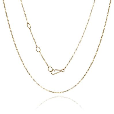 18ct Gold Fine Long Belcher Chain
