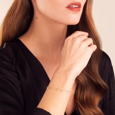 Nectar 18ct Gold White Sapphire Bracelet