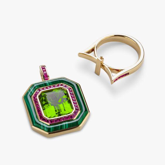 Unique 18ct Gold Radiance Peridot Pendant & Ring | Annoushka jewelley