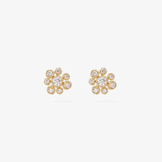 Marguerite 18ct Gold Diamond Small Stud Earrings   Annoushka jewelley