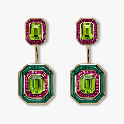 Unique 18ct Gold Radiance Peridot Jacket Earrings
