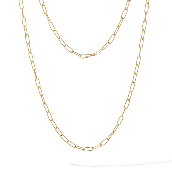 14ct Gold Mini Long Cable Chain | Annoushka jewelley