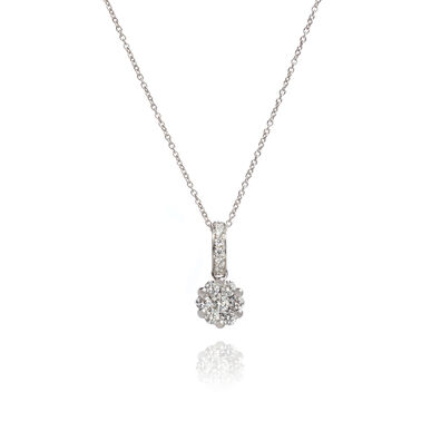 Daisy 18ct White Gold 0.32ct Diamond Necklace