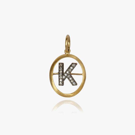 18ct Gold Diamond Initial K Pendant