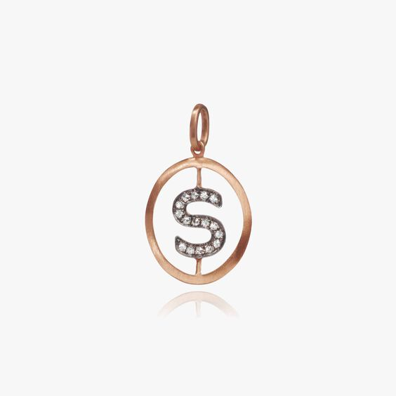 18ct Rose Gold Initial S Pendant | Annoushka jewelley