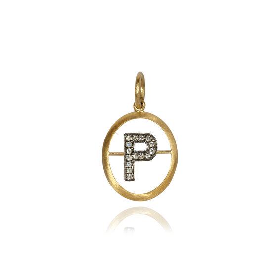 18ct Gold Diamond Initial P Pendant