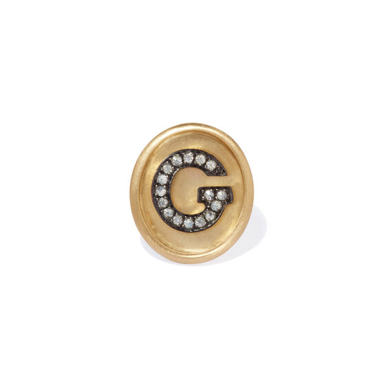 18ct Gold Diamond Initial G Face | Annoushka jewelley