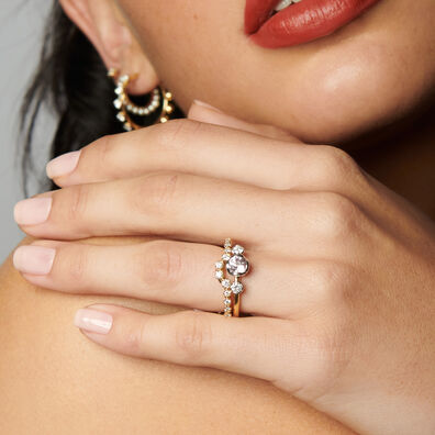 Marguerite 18ct Gold Side Ring