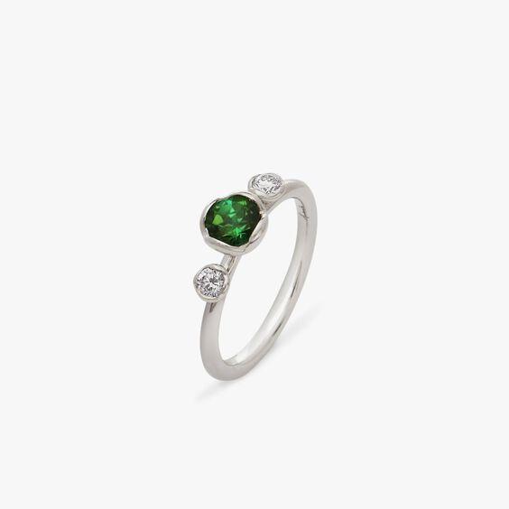 Marguerite 18ct Green Tourmaline & Diamond Ring