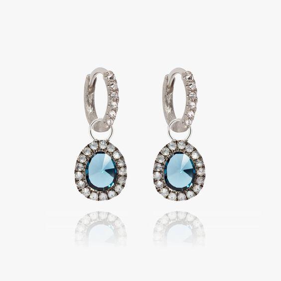 Dusty Diamonds 18ct White Gold Small Topaz Earrings | Annoushka jewelley