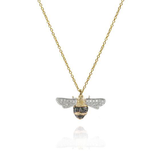 Love Diamonds 18ct Gold Diamond Bee Necklace   Annoushka jewelley