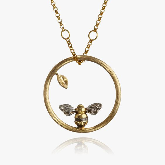 Hoopla 18ct Gold Bee Necklace