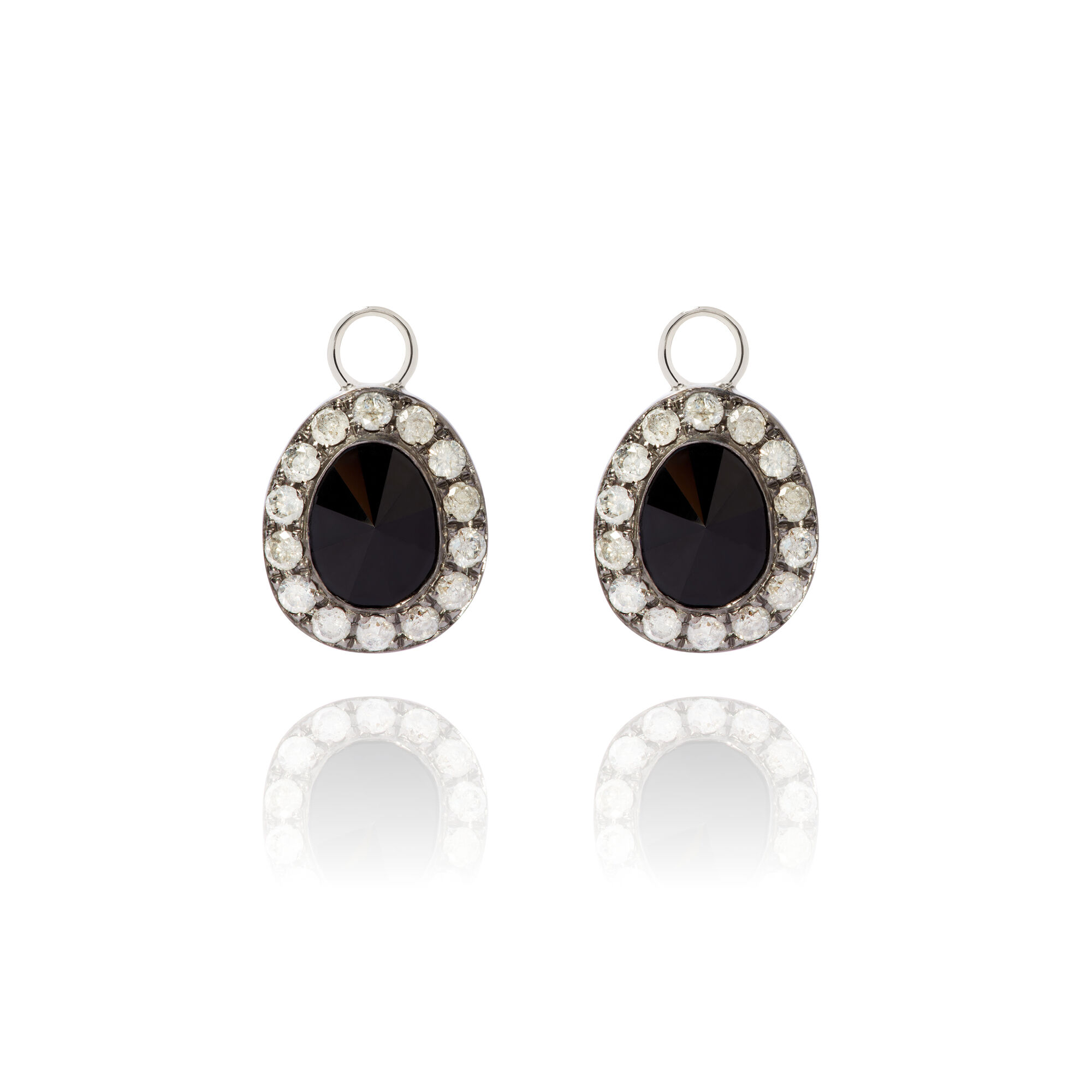 03fcfefc3 Dusty Diamonds 18ct White Gold Onyx Earring Drops. Click to expand