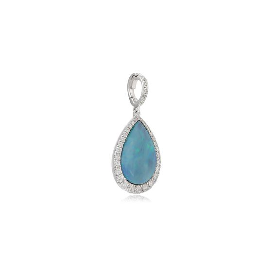 Unique 18ct White Gold Opal Pendant | Annoushka jewelley